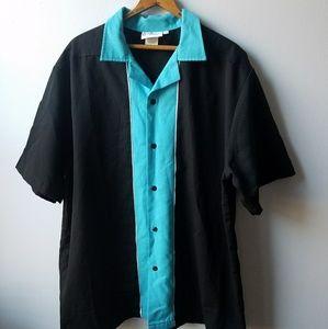 Vintage Men's 'YRF' Bowling Button Down Shirt